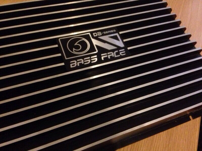 Bass Face Db  W Stereo  Channel Car Amplifier