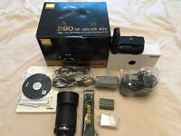Nikon D90 kit 55-200m f/4 vr very low shooter like brand-new