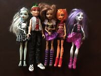 Monster High Ghouls Alive Original 5 Doll Lot