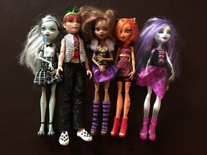 Monster High Ghouls Alive Original 5 Doll Lot