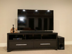 """FS: Samsung 55"""" LED Smart TV with sound bar, sub and stand"""
