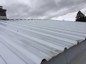 Steel roofing.  Galv. Commercial grade