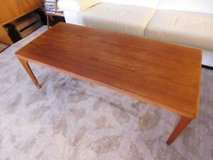 Vintage Mid Century Modern Danish Teak Coffee Table by Vejle