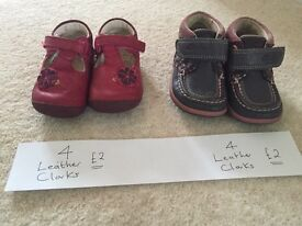 Girls leather shoes size 4