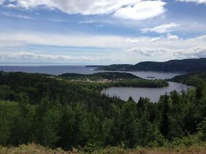 Terrain avec vue panoramique
