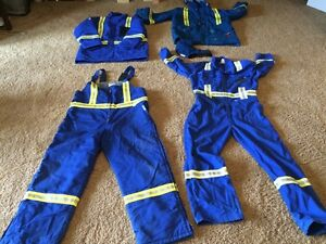 FR coverall set, includes insulated winter wear