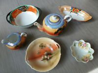 Japanese Dishes and Teapot