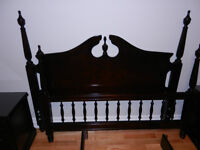 Solid Wood Queen Bed and Two Night stands