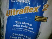 Tiles Mortar, powder, 8lbs, $5