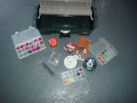 Flambeau Tackle Box with some fishing supplies