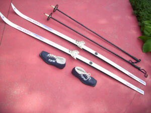 Two Complete Sets of Cross Country Skis for Sking Couple/Single