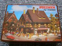 Vollmer N7692 building kit, flower shop for N scale railroad