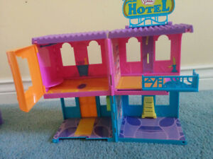 Polly Pocket Hotel, gently used, $10
