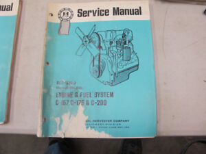 IH Tractor C-157, C-175, C-200 Engines Service Manual