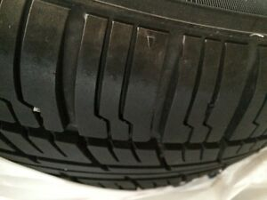195 60 r15 summer tire set on rims + rim cover