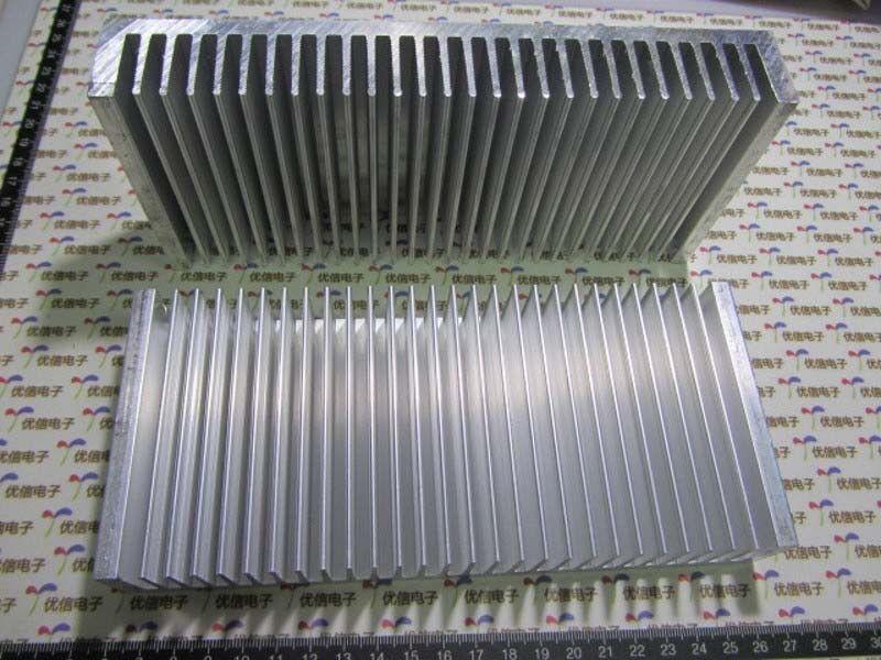 1pcs Aluminum Heatsink Heat Sink Thermal Pad Transfer Blades Silver 200x90x30mm