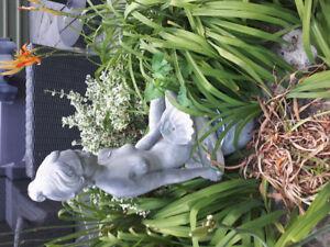 Vintage nude lady Concrete garden statue