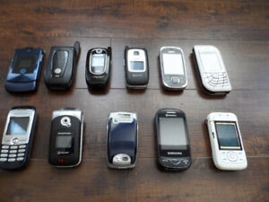 Vintage Collectible Cell Phone Lot