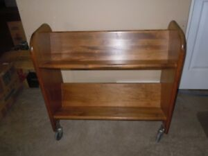 Antique Library Book Trolley  // Vintage