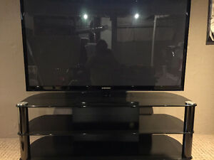 samsung smart 600hz 60in plasma tv and glass stand