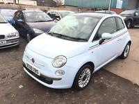 2009/09 Fiat 500 LOUNGE 1.2 PAN ROOF AUTOMATIC LOW MILEAGE