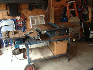 Table saw/jointer and Sanding disc
