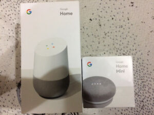 Brand new google home bundle, unopened never used