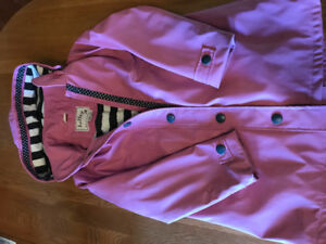 Girls Hatley matching rain coat and boots