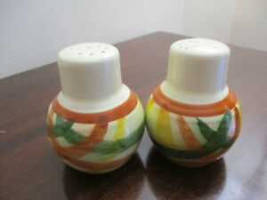 Pair of Vintage Vernon Poppytrail Homespun Salt & Pepper Shakers
