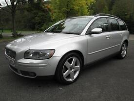05/05 VOLVO V50 SE 2.0D ESTATE IN MET SILVER WITH FULL SERVICE HISTORY