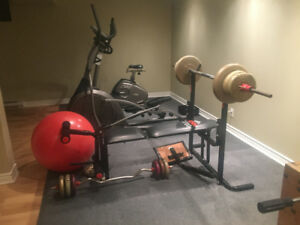 GYM FOR SALE + FOOSBALL TABLE GOOD CONDITION