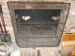 Fireplace screen - black