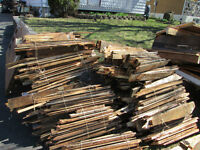 free scrap wood to burn for pick up