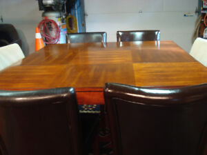 PUB DINING TABLE & 6 CHAIRS        REDUCED