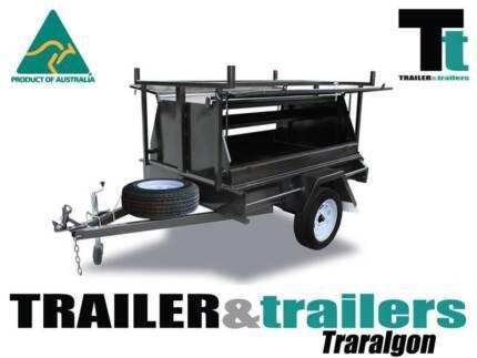 6x4-TRADESMANS-TRAILER-SINGLE-AXLE-750MM-TOOL-BOX Traralgon East Latrobe Valley Preview