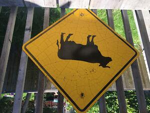Vintage Caution Sign