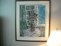 Grande toile (acrylique) Sujet champêtre