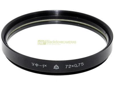 72mm. Filtro UV. Ultra violet filter 72 mm. Produzione russa.
