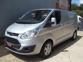£ 71 A WEEK - 2015 65 REG FORD TRANSIT CUSTOM LIMITED 290 LWB 2.2 VAN AIR CON