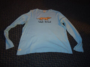"Ladies Size L/G Long Sleeve ""Well Bred"" ***Hatley*** T-Shirt"