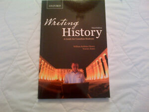 Writing History A Guide for Canadian Students