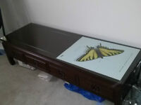 Rosewood Coffee Table with Drawers
