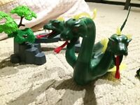 Playmobil sea monster, ghost pirate, and sub
