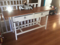 Solid Wood Country Side Table, Hall Table, TV Table