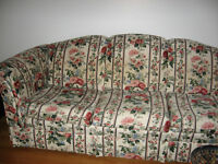 Couch and Wing Chair Floral