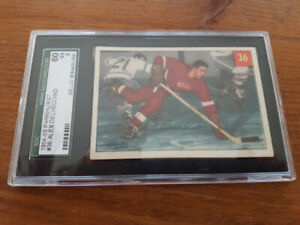 2 CARTE HOCKEY CARD 1953-54 ET 1954-55 GRADÉ HALL OF FAME .