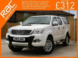 2014 Toyota Hi-Lux 3.0 D-4D Turbo Diesel Invincible 4 Door Auto 4x4 4WD Pickup D