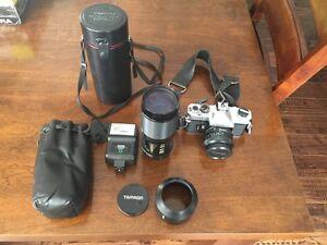 Vintage 35mm Camera + Accessories