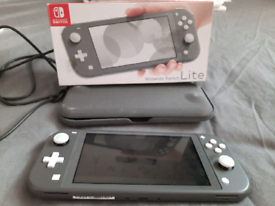 Nintendo switch light grey (boxed)