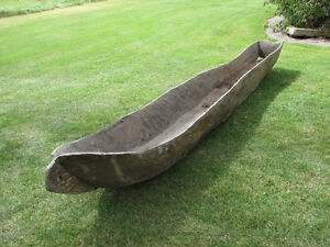 ANTIQUE - Excellent and early example of a native dugout canoe.